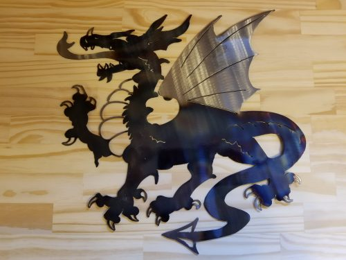 "Dragon -- $70 -- Size: 19""L x 19""H"
