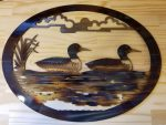 "Loons Metal Wall Art -- $70 -- Size: 20""L x 15""H"