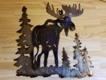 "Moose Metal Wall Art -- $70 -- Size: 17""L x 17""H"