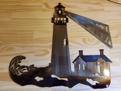 "Lighthouse -- $70 -- Size: 20""L x 17""H"