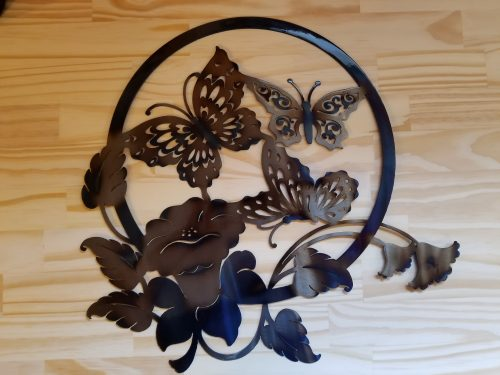 "Lg. Butterfly Metal Wall Art -- $70 -- Size: 18""L x 18""H"