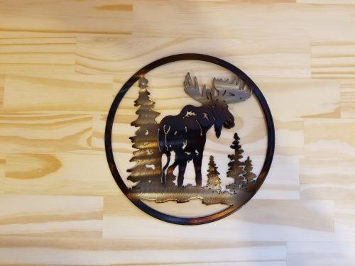 "Small Moose Circle -- $20 -- Size: 8.5"""