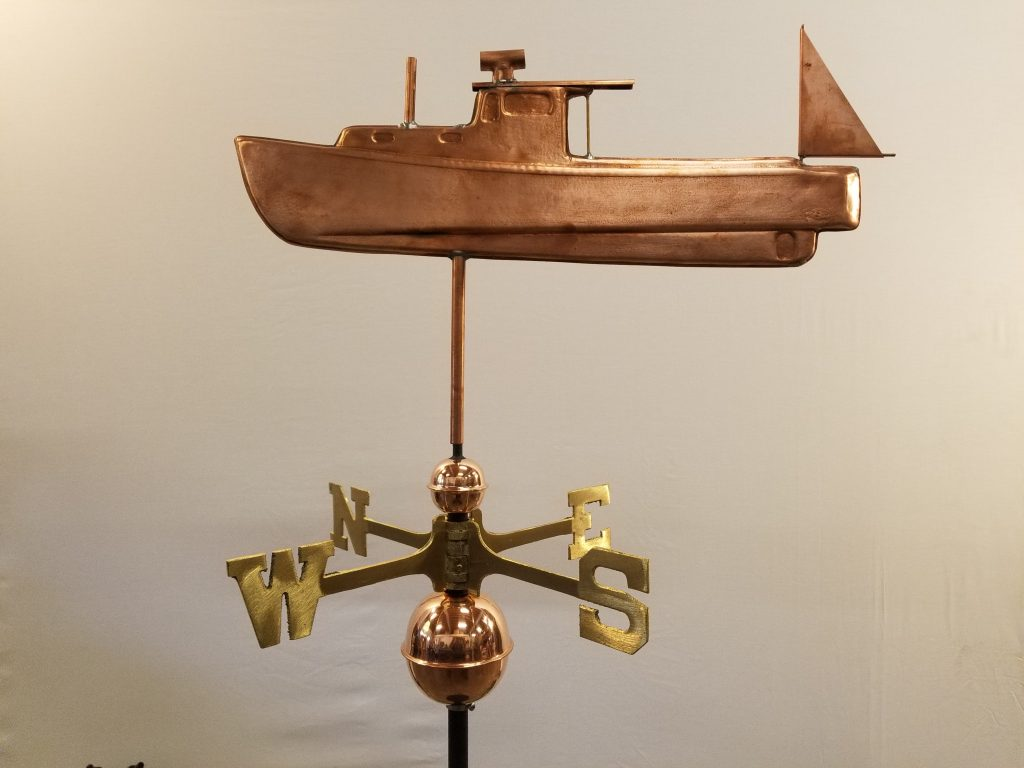 "Lobster Boat Weathervane--Order # WF357--$395-- 20""Lx15""H"
