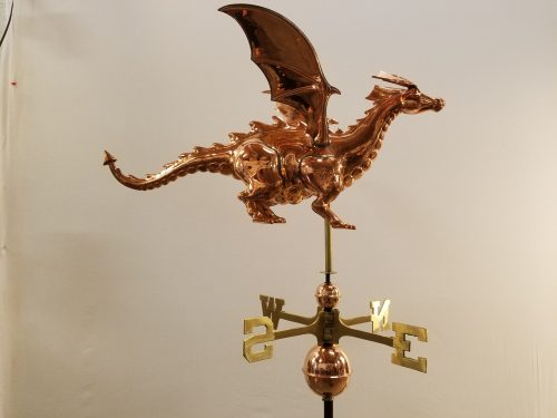 "Dragon Weathervane -- Order# CT446 -- $385 -- Size: 30""L x 15""H x 20""W"