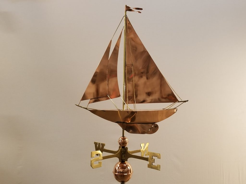 "Racing Sloop Weathervane -- Order# GD909p -- $325 -- Size: 24""Lx28""H"