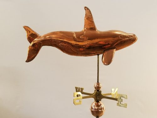 "Killer Whale Weathervane -- Order# UD264 -- $325 -- Size: 31""L x 17""H x 6""W"