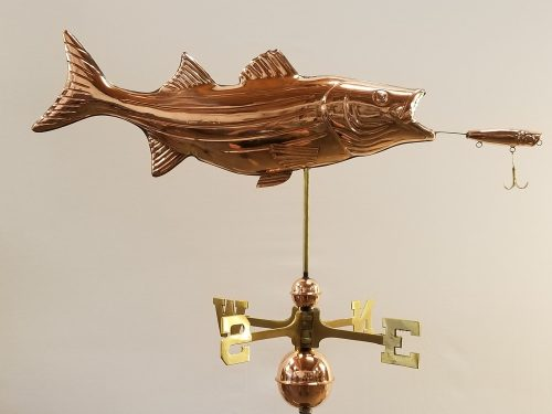 "Bass and Lure Weathervane -- Order# -- $365 -- Size: 36""L x 14""H"