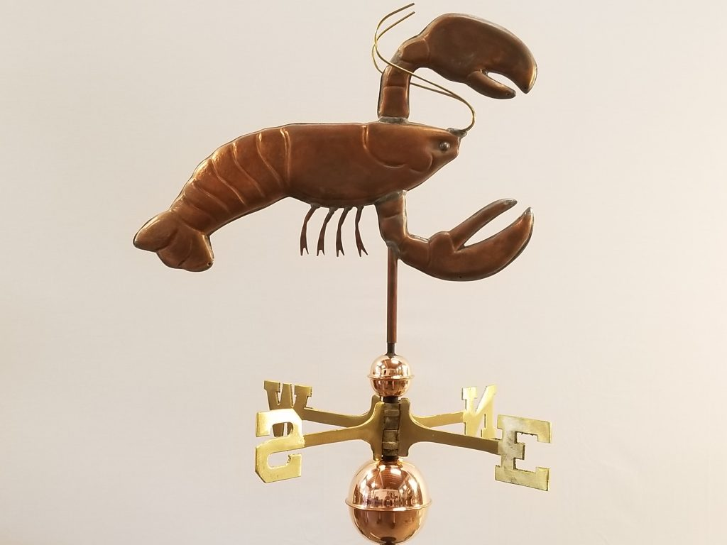 "Lobster Weathervane--Order # WF357--$395-- 20""Lx15""H"