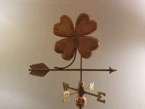 "Four Leaf Clover Weathervane -- Order# WF446 -- $445 -- 31""L X 24""H"