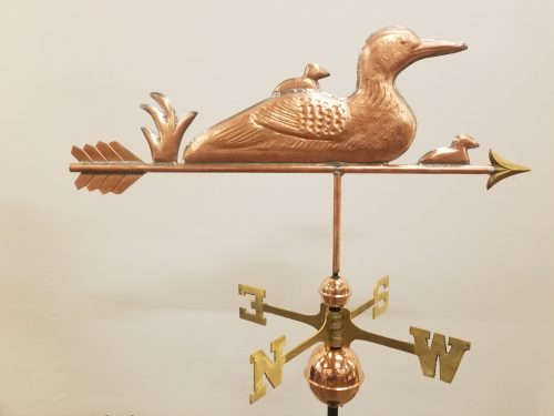 "Loon and Chicks Weathervane -- Order# WF299 -- $375 -- Size: 30""Lx10""H"