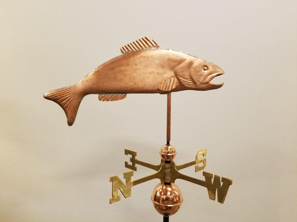 "Trout Weathervane -- Order# WF153 -- $325 -- Size: 23""Lx9""H"