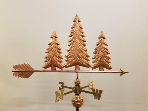 "Pine Trees Weathervane -- Order# WF309 -- $449 -- Size: 38""L X 21""H"