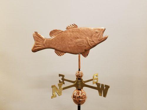 "Bass Weathervane -- Order# 319 -- $295 -- Size: 21""L X 13""H"