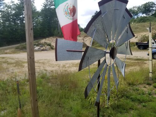 "32"" Galvanized Windmill -- $100 -- Side View"