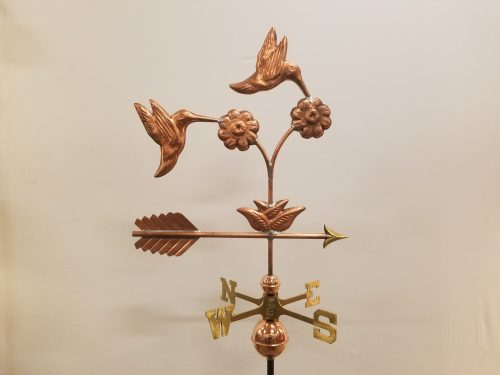 "Double Hummingbird Weathervane -- Order# WF474 -- $425 -- 24""L X 27""H"