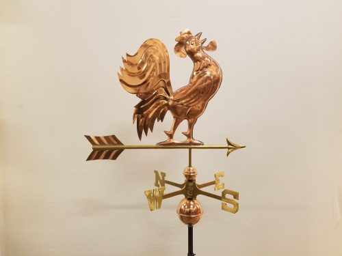 "Crowing Rooster Weathervane -- Order# GD637p -- $295 -- Size: 25""Lx18.5""H"